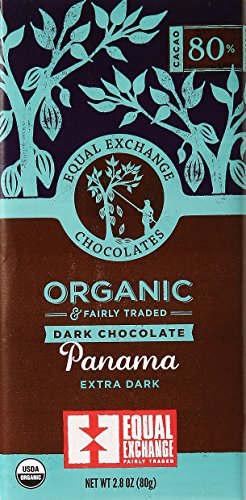 Equal Exchange Organic Dark Chocolate Panama Extra Dark, 2.8 - 80 Exchange Equal