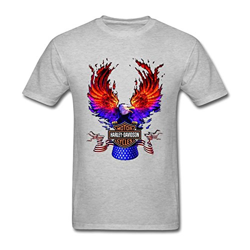 VEBLEN Men's Harley Davidson AMA Design Cotton T Shirt