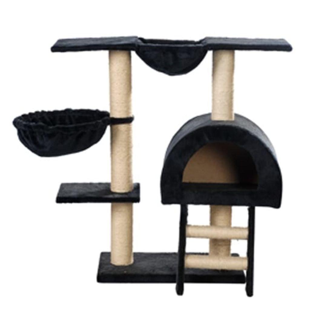 SENLUOWX Rascador Para Gatos 105cm Color Azul Oscuro Felpa Torre Gimnasio: Amazon.es: Productos para mascotas