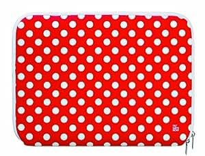 Pat Says Now 66072 - Funda blanda para portátil de 13.3 pulgadas, diseño rojo con puntos