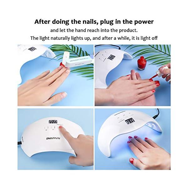 NAVANINO Lampada UV LED, Può Curare Rapidamente i Raggi UV Gel gel Costruttore/LED 48W Potenza Massima Viene Fornito con…