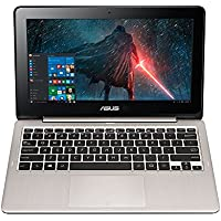 Asus Business 2-in-1 Laptop PC 11.6 IPS LED-Backlit Touchscreen Intel Celeron Processor 4GB RAM 32GB eMMC SSD Bluetooth HDMI Webcam 8-Hour Battery Windows 10-Silver