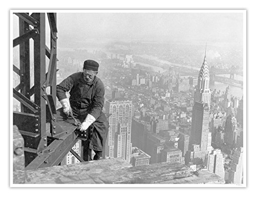 Steves Poster Store Empire State Building Construction Poster New York City Historic Photograph 1930 Handmade Giclée Gallery Print 18x24 Inches (Vintage Empire State Building)