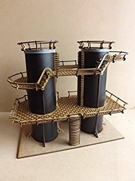 Dual silos - Wargames Building/scenery/terrain for warhammer