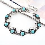 Boho Turquoise Women Jewelry Pendant Choker Chunky Statement Bib Necklace Gift EW
