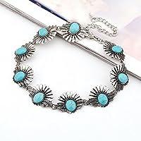 ERAWAN Boho Turquoise Women Jewelry Pendant Choker Chunky Statement Bib Necklace Gift EW sakcharn