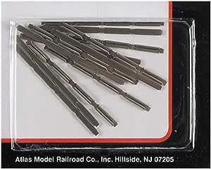 Atlas 2538 N-Scale Code-80 Insulating Rail Joiners Plastic 24