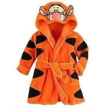 Ameny® Children Kids Coral Velvet Animal Cosplay Hoody Bathrobe Cape Suit