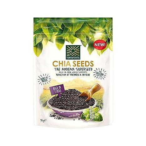 Terrafertil Chia Semillas 1Kg - Paquete de 4: Amazon.es ...