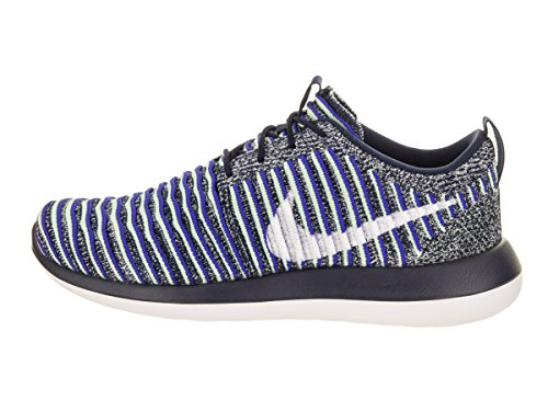 Shoe Two Binary Flyknit Navy Blue Nike College Running 8 White White Roshe Women's US Women TxqqtPE