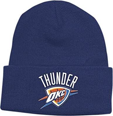 NBA adidas Oklahoma City Thunder Cuffed Knit Beanie - Navy Blue