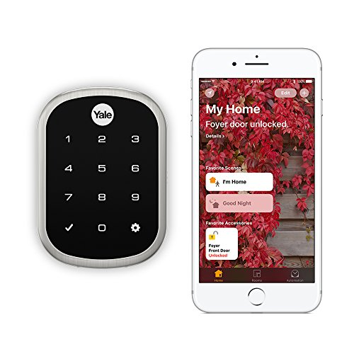 Depth Sensitive Screwdriver - Yale Assure Lock SL - Key Free Smart Lock with Touchscreen Keypad - Works with Apple HomeKit and Siri (YRD256iM1619) in Satin Nickel