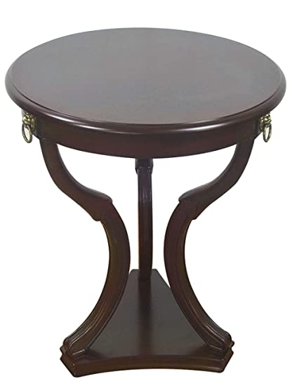Amazon.com: Solid Wood Edge/Side Table/Small Round Table ...