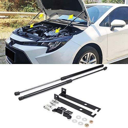 High Flying Bonnet Gas Spring Black 2 Pieces For Corolla Hybrid 5 Door Touring Sports Saloon E210 2019 2020 Auto