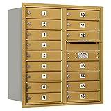 Salsbury Industries 3709D-16GRU 4C Horizontal Mailbox, Gold