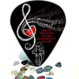 Giant / Huge Guitar Pick Wall Art - Christian Treble Clef Psalm 33:3