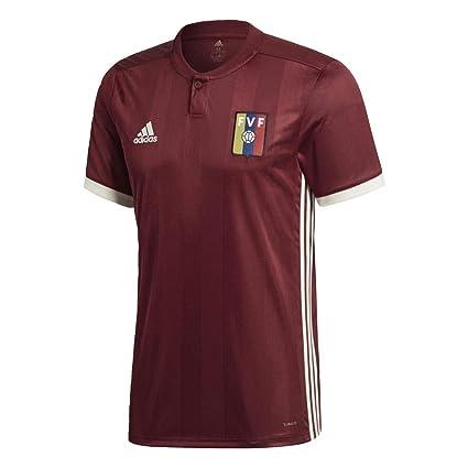 Adidas Venezuela Camiseta de Equipación, Hombre, Rojo (Buruni/blacre), M