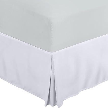 Utopia Bedding Cubre Canapé - Plisado - Encaja Debajo del Colchón y En el Suelo - Falda De La Cama (Blanco, 90 x 190 cm)