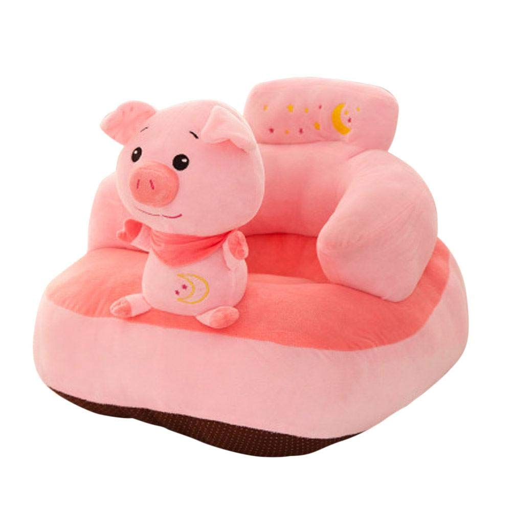 Baby Seat Cute Cartoon Removable & Washable Mini Sofa Seat Children Learn to sit Sofa Animal Shape Small Sofa Leo565Tom