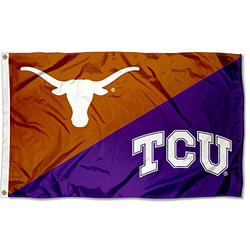 College Flags and Banners Co. TCU vs. Texas House Divided 3x5 Flag