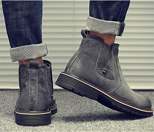 Dolwins Mens Casual Chelsea Slip on Ankle Boots Winter Boots