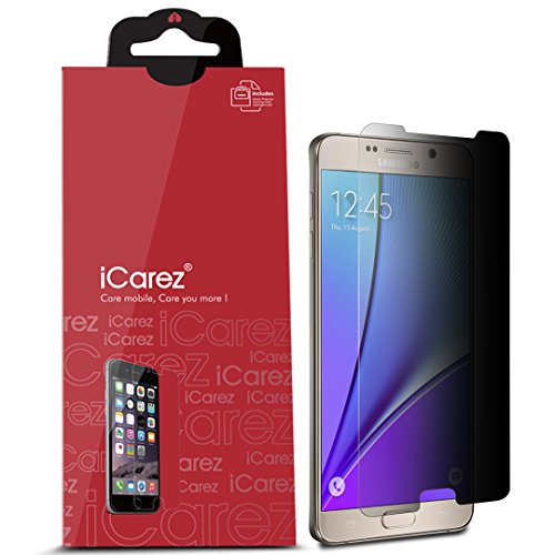iCarez [Secret Series 4 Way 360 Degree Privacy Screen Protector for Samsung Galaxy Note 5 with Lifetime Replacement Warranty [1-Pack]- Retail Packaging