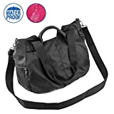 ZORESS Women Fashion Large Tote Shoulder Handbag Waterproof Multi-function Nylon Travel Crossbody Bags (Black)