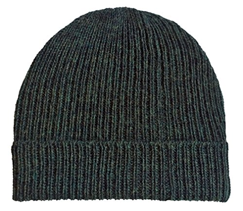 - Incredible Natural Creations from Alpaca - INCA Brands Ribbed Stocking Cap - 100% Alpaca Wool - Traditional Fisherman Style For Work or Fashion Unisex Durable All Weather Hat (Green Heather)