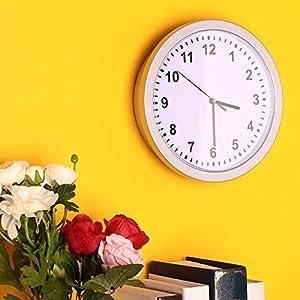 Giantree Idea hogar, Reloj de Pared Moderno con Caja Fuerte Oculta, joyería Secreta Relojes de Seguridad Caja de Dinero en Efectivo Caja de Almacenamiento 7