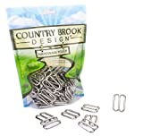 Country Brook Design 10 1 Inch Metal Round Wide-Mouth Triglide Slides