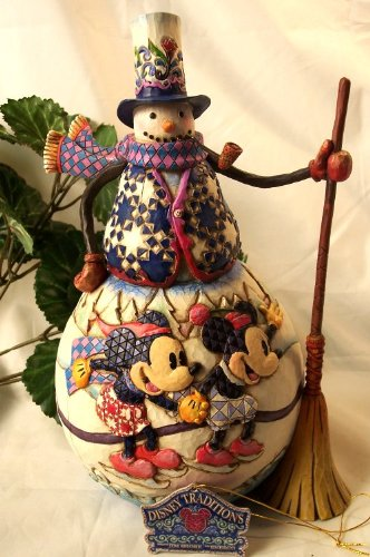 (Jim Shore Snowman With Mickey & Minnie - Old Fashioned Holiday)