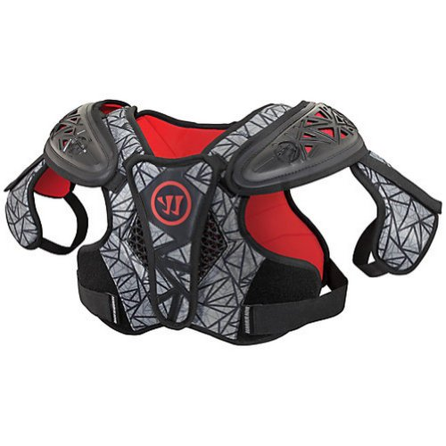 Warrior Adrenaline X2 Hitman Adult Shoulder Pad, Black, X-Small