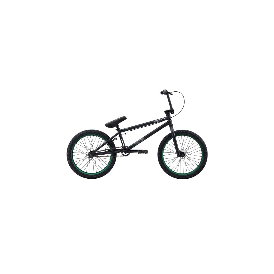 Eastern Bikes Griffin 2013 Edition BMX Bike (Matte Black/Green Rim, 20 Inch)