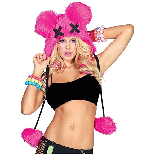 [Dead Mouse Furry Hood Costume Accessory] (Halloween Little Dead Riding Hood Costume)