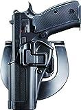 BlackHawk Serpa CQC Concealment Holster, Left Hand, Black - Fits CZ 75(B) / 75 SP-01 / 85 Combat - 410562BK-L