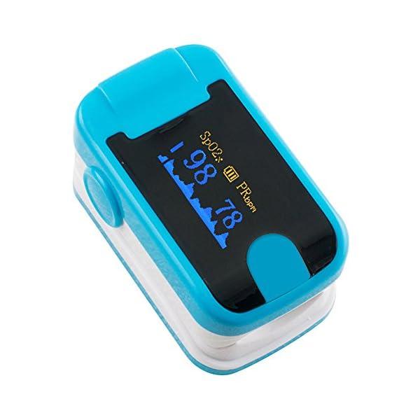 Carejoy Color OLED oximetro de Pulso de Dedo con Alarma Audio y Sonido del Pulso-SPO2Monitor Fingerpulsoximeter Pulsoximeter Pulsioxímetro Saturimetro Ossimetro 2