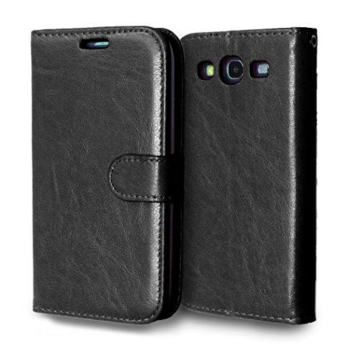 Samsung Galaxy S3 i9300 Case,Samsung Galaxy S3 i9300 Case,Comfortable Premium PU Leather Wallet Snap Case Comfortable Comfortable Flip Case Replacement for Samsung Galaxy S3 i9300 Black