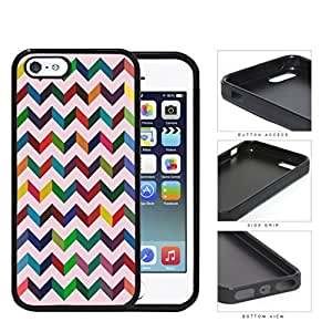 3 Dimensional Chevron In Multiple Colors Rubber Silicone TPU Cell Phone Case Apple iPhone 5 5s