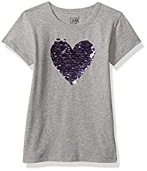 Girls' Short Sleeve Flip Sequin Tee