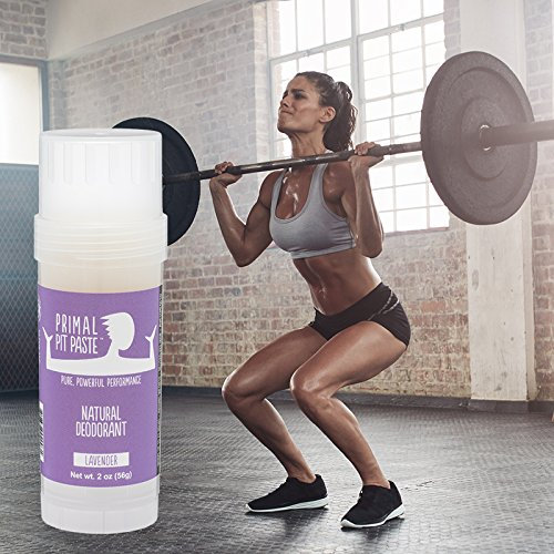 Primal Pit Paste All Natural Lavender Deodorant – Aluminum Free, Paraben Free, Non-GMO, for Women and Men – BPA Free 2 Oz Convenience Stick – Scented with Natural Essential Oils by Primal Pit Paste (Image #1)'