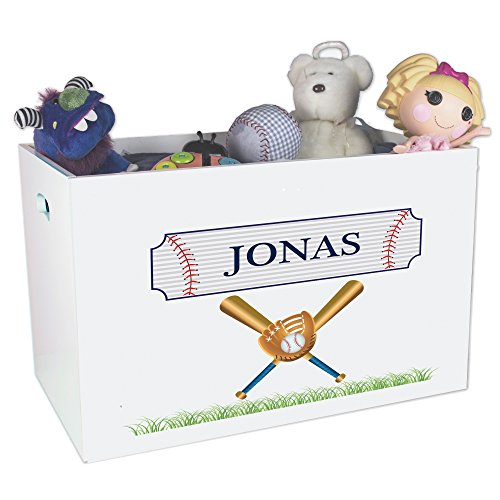 l Open Top Childrens Toy Box (Personalized Adult Wood Baseball Bat)
