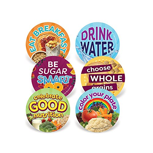 Learning Zonexpress 200 Nutrition Stickers | Healthy Eating Stickers | 2