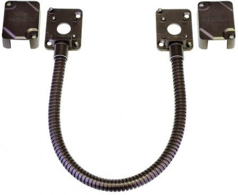 SECO-LARM SD-969-M15Q/B Armored Electric Door Cord/Removable Covers, Bronze, Designed to carry wiring to conduct power to electric locks or access systems, Surface-mounted