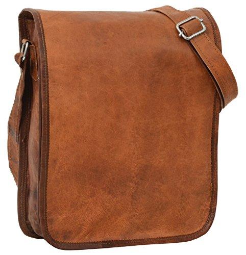 Gusti Leder nature Breen borsetta di pelle a tracolla spalla per tablet 9,7 da sera tempo libero vintage donn piccola marrone K63