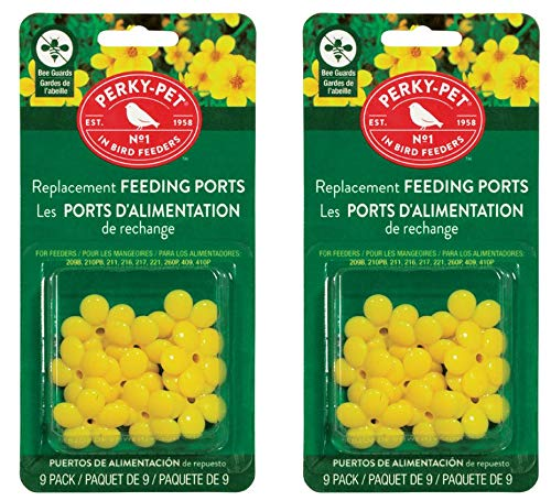 Perky Pet PP202FB Replacement Flowers for PP209B - Pack of 2 (package may vary ) (Feeder Hummingbird Parts)