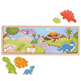 Bigjigs Toys Magnetic Picture Board-Dinosaur