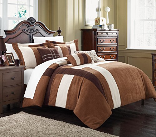 Chic Home Regina 7-Piece Plush Microsuede Comforter Set, ...