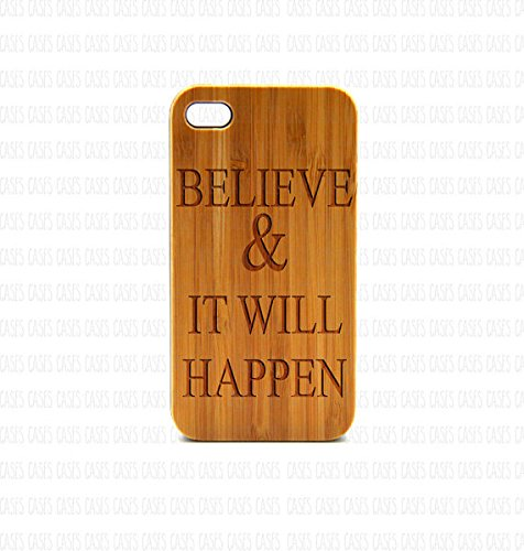 Krezy Case Real Wood iPhone 6 Plus Case, Believe quote iPhone 6 Plus Case, Wood iPhone 6 Plus Case, Wood iPhone Case,