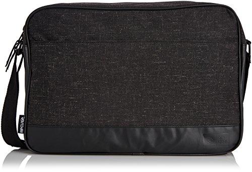 Rip Curl Vinyl Satchel - Maletín para portátil de cuero hombre negro - negro