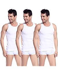 Godsen Men's 3-pack Undershirt Vest Elastic Tank Tops